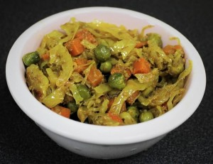 Cabbage Peas Carrot